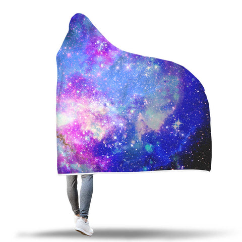 Image of Hooded Blanket - Galaxy Hooded Blanket