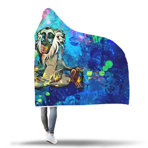Image of Hooded Blanket - Meditating Rafiki Hooded Blanket