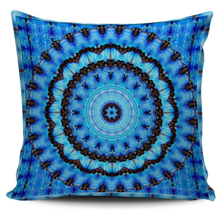 Pillow Cover - Blue Butterfly Pillow Cover