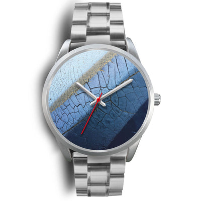 Silver Watch - Blue Layers