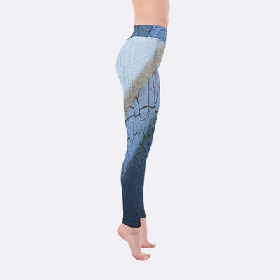 Yoga Leggings - Blue Layers Yoga Leggings