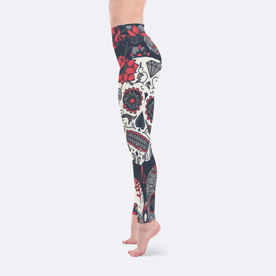 Yoga Leggings - Pink Sugar Skull Leggings