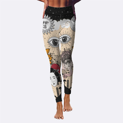 Yoga Leggings - Tattooed Lotus Leggings