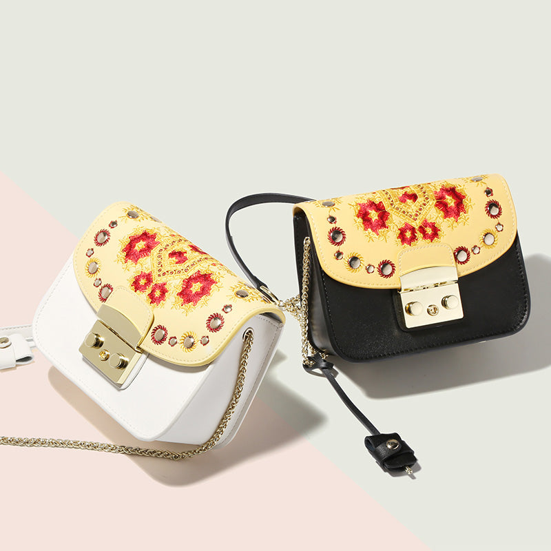 Julia Kays™ SUNNY Embroidery Flap Mini Shoulder Bag