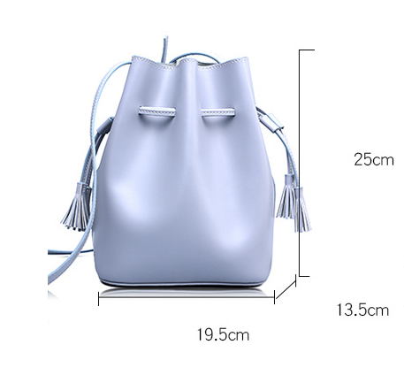 Julia Kays™ Minimalist Tassel Crossbody Bucket Bag