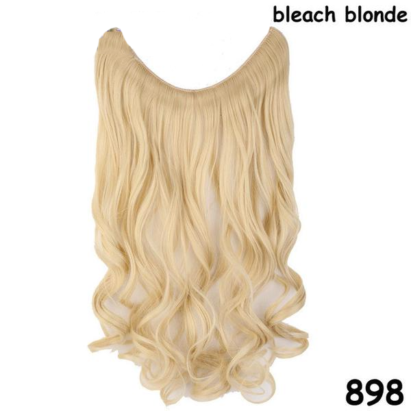 Invisible Fish Line Wavy Heat Resistant Hair Piece Extensions