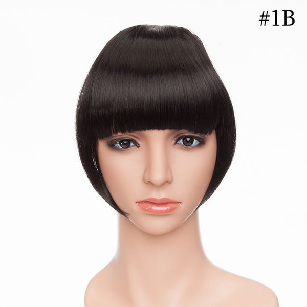 Bang Hairpiece Clip-In Front Straight