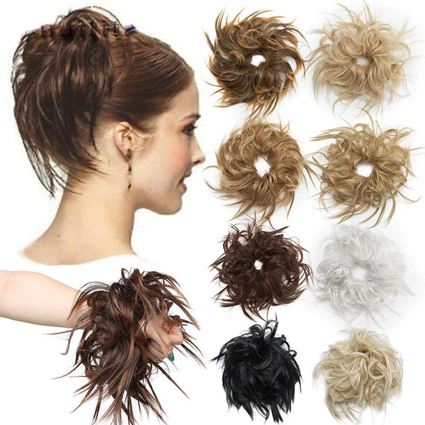 7 Inch Messy Bun Tousled Hairpiece
