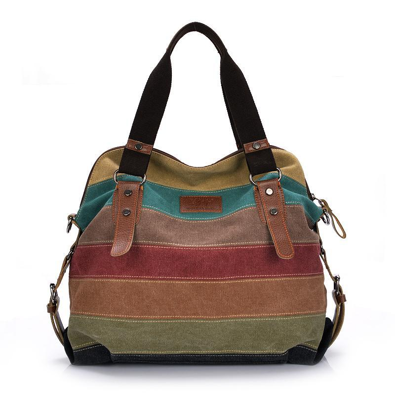 Julia Kays™ Patchwork Striped Canvas Legend Tote