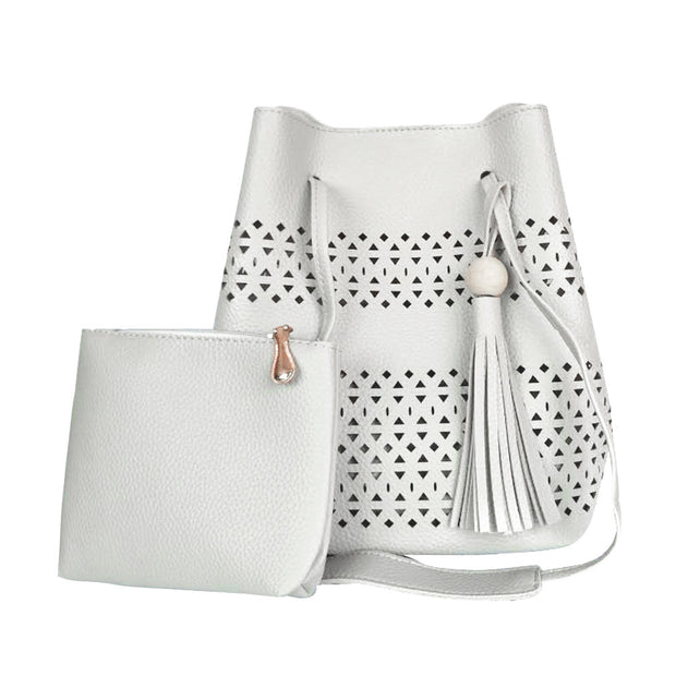 Julia Kays™ Tassel Laser Cut Barrel Bag