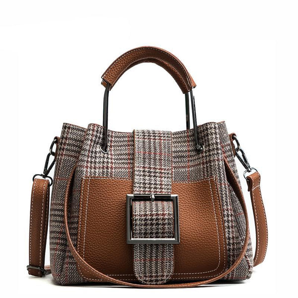 Julia Kays™ MARGARET Checkered Tote