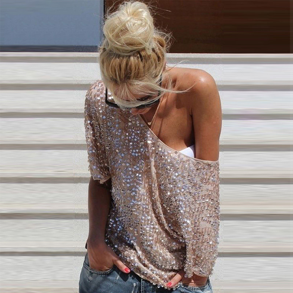 Julia Kays™ Milanese Sequin Top