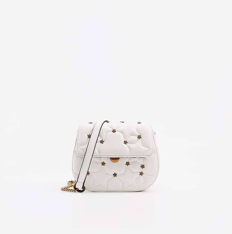 Stars Detailing Quilted Mini Shoulder Bag