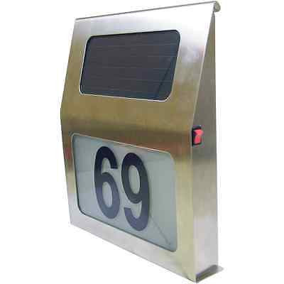 LED Solar Panel Address Sign