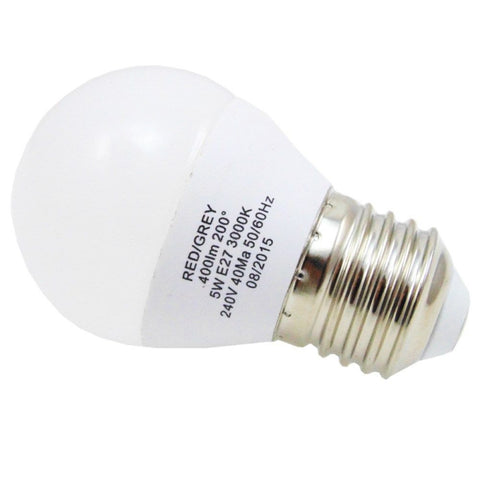 Led Bulb Golf Ball 5w 400 Lumens Non Dimmable E27 Es Warm White 35w Equivalent