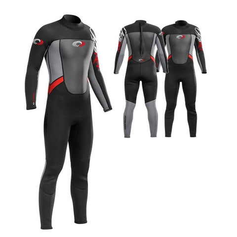 ORIGIN MENS 5MM WETSUIT ADULT FULL LENGTH WINTER NEOPRENE STEAMER RED