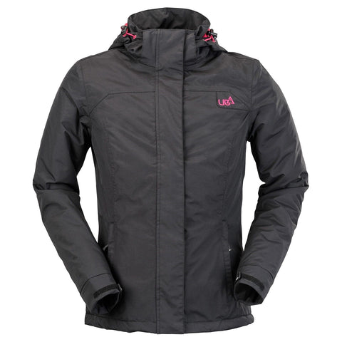 Womens Raven Grey Ski Snowboard Jacket Waterproof Breathable