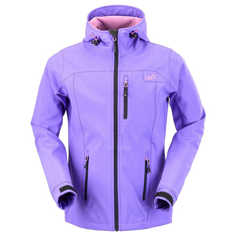 Womens Purple Softshell Jacket Ski Snowboard Waterproof Breathable