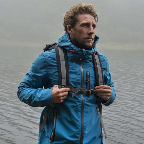 Mens Teal Lightweight Waterproof Jacket Breathable Walking Hiking