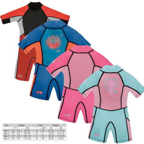 INFANTS SHORTY WETSUIT 3/2MM UPF50+