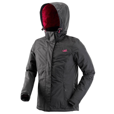 Womens Black Waterproof Windproof Lightweight Jacket