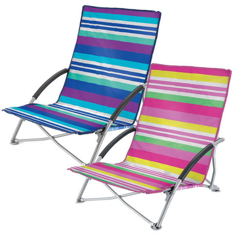 Low Folding Beach Chairs Camping Festival Beach Pool Picnic Deck Chair-Bob Gnarly Surf
