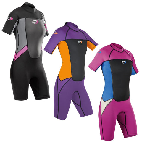 ORIGIN GIRLS 3/2MM SHORTY WETSUIT JUNIOR NEOPRENE WET SUIT SUMMER