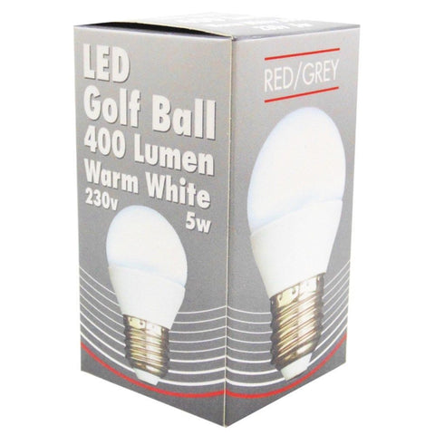 Led Bulb Golf Ball 5w 400 Lumens Non Dimmable E27 Es Warm White 35w Equivalent-Bob Gnarly Surf