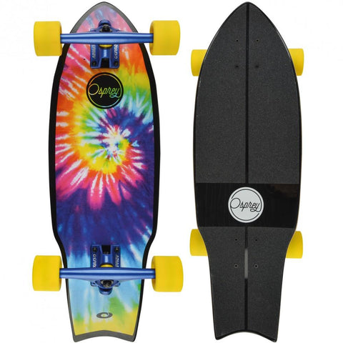 "27"" Tie Dye Cruiser Skateboard - Jefferson-Bob Gnarly Surf"