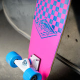 "27.5"" Mini Checkers Cruiser Skateboard-Bob Gnarly Surf"