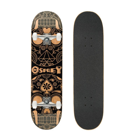 "31"" Candy Skull Double Kick Skateboard-Bob Gnarly Surf"