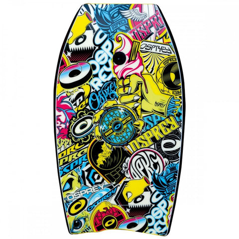 "33"" XPE Stickers Yellow Bodyboard-Bob Gnarly Surf"
