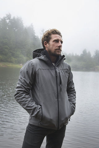 Salween Grey Softshell Jacket Lightweight Waterproof Breathable