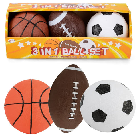3Pc Kids Foam Mini Sport Ball Set-Bob Gnarly Surf