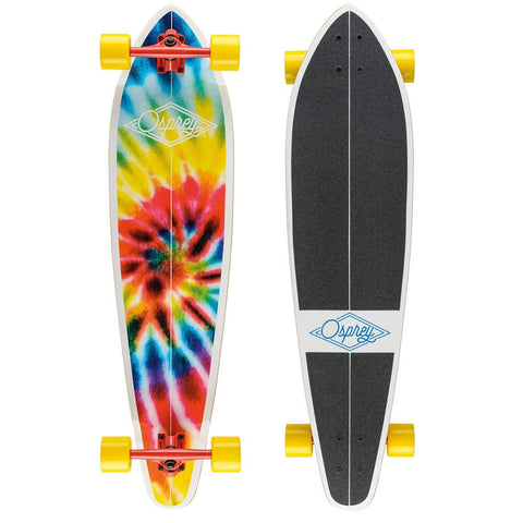 "40"" Pintail Tie Dye Red Longboard-Bob Gnarly Surf"