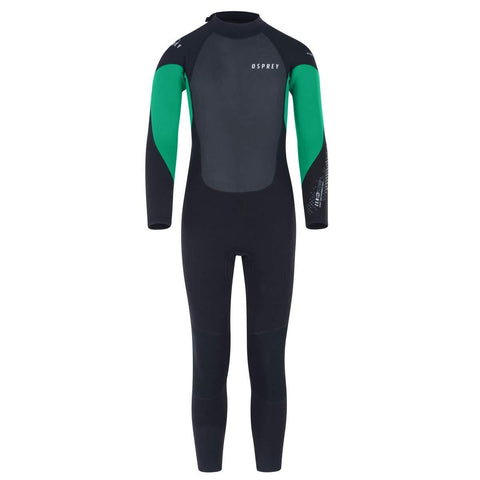 Zero 3mm Boys Wetsuit Green-Bob Gnarly Surf
