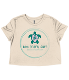 Turtle Ladies Flowy Cropped T-Shirt