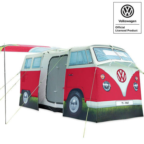 VW Camper Van 4 Man Tent Red-Bob Gnarly Surf