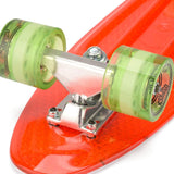 "Retro Plastic Red Mini Cruiser 22.5"" Skateboard"