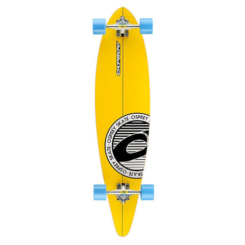 "Stripe 40"" Pintail Longboard-Bob Gnarly Surf"