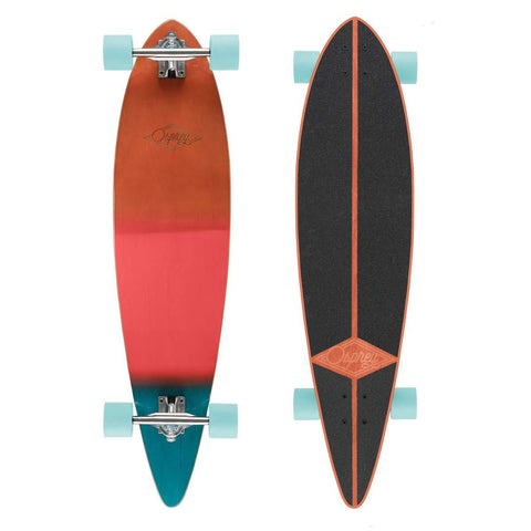 "Wood Grad 40"" Complete Pintail Longboard-Bob Gnarly Surf"