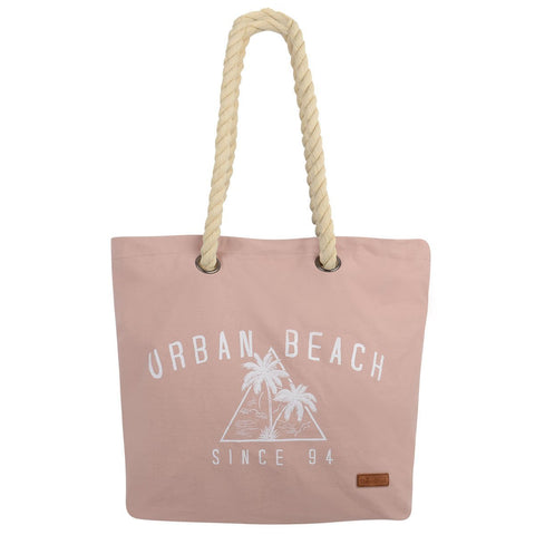 Tamri Canvas Beach Bag Pink-Bob Gnarly Surf