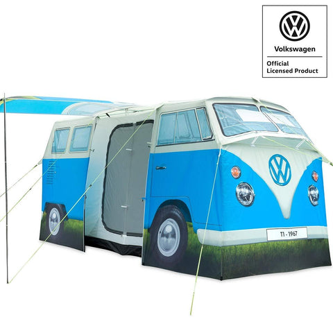 VW Camper Van 4 Man Tent Blue-Bob Gnarly Surf