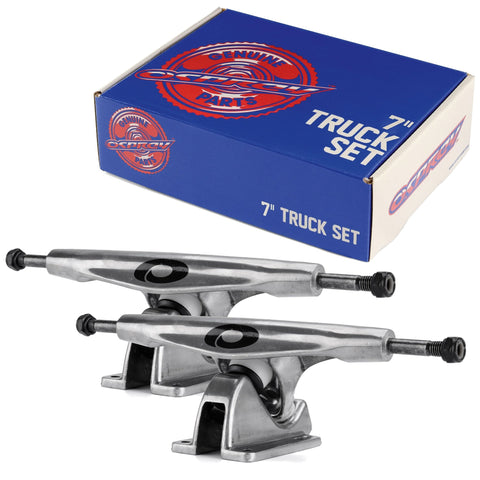 "7"" Polished Longboard Truck Set-Bob Gnarly Surf"
