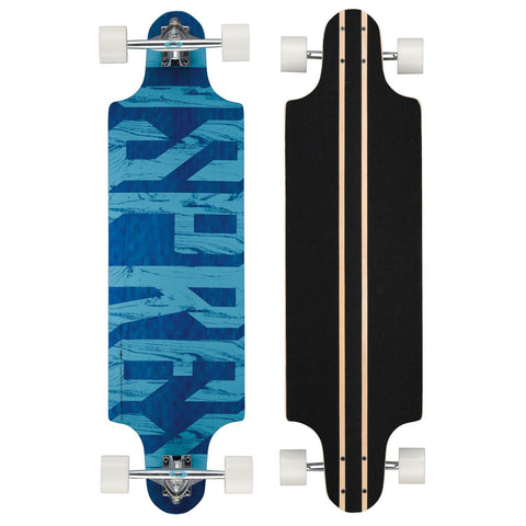"Text 38"" Twin Tip Longboard-Bob Gnarly Surf"