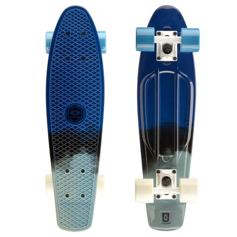 Paint Blue Retro Plastic Mini Cruiser Skateboard-Bob Gnarly Surf