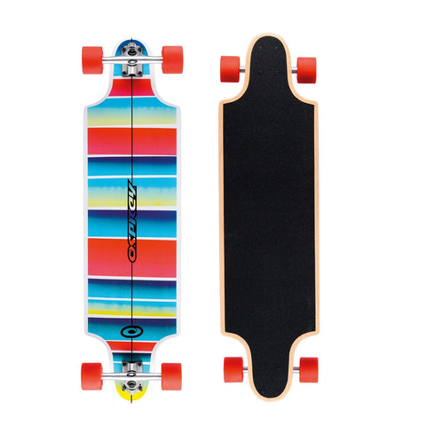 "Stripe 38"" Twin Tip Longboard-Bob Gnarly Surf"