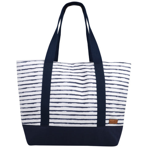 Hanalei Navy Stripe Shoulder Bag-Bob Gnarly Surf
