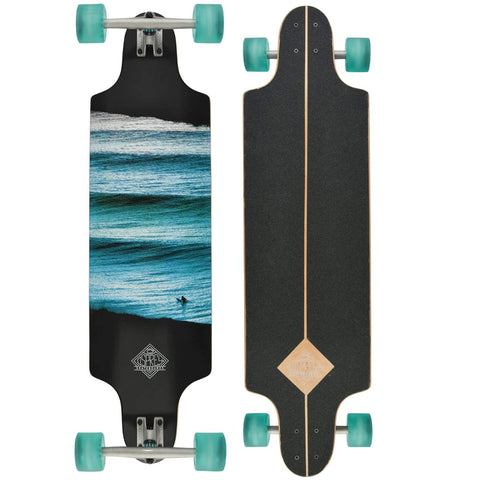 "Linear Blue 38"" Twin Tip Longboard-Bob Gnarly Surf"