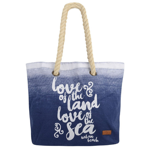 Tamri Canvas Beach Bag Blue-Bob Gnarly Surf